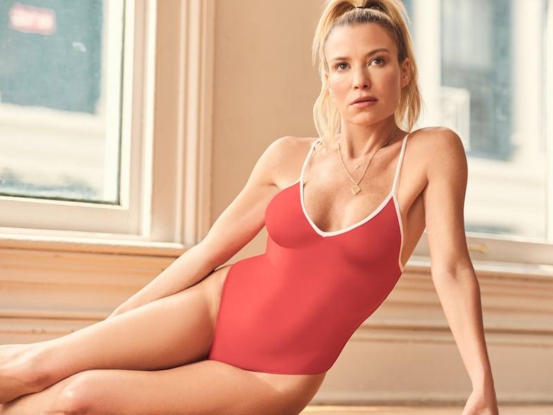 Barneys New York x Tracy Anderson Rib-Knit Cami Bodysuit