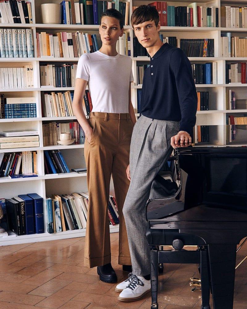 Brunello Cucinelli Tailored Wide-Leg Cotton-Blend Twill Trousers