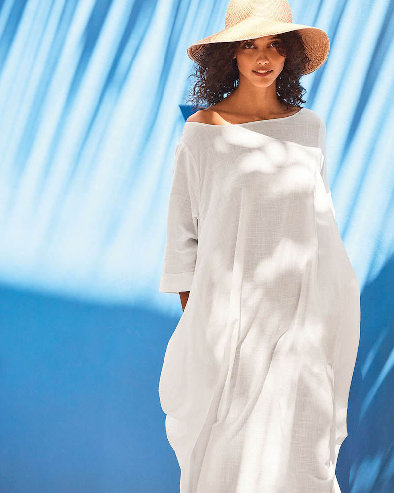 DUBGEE by Whoopi Boat-Neck 3/4-Sleeve Cocoon Dress with Pockets