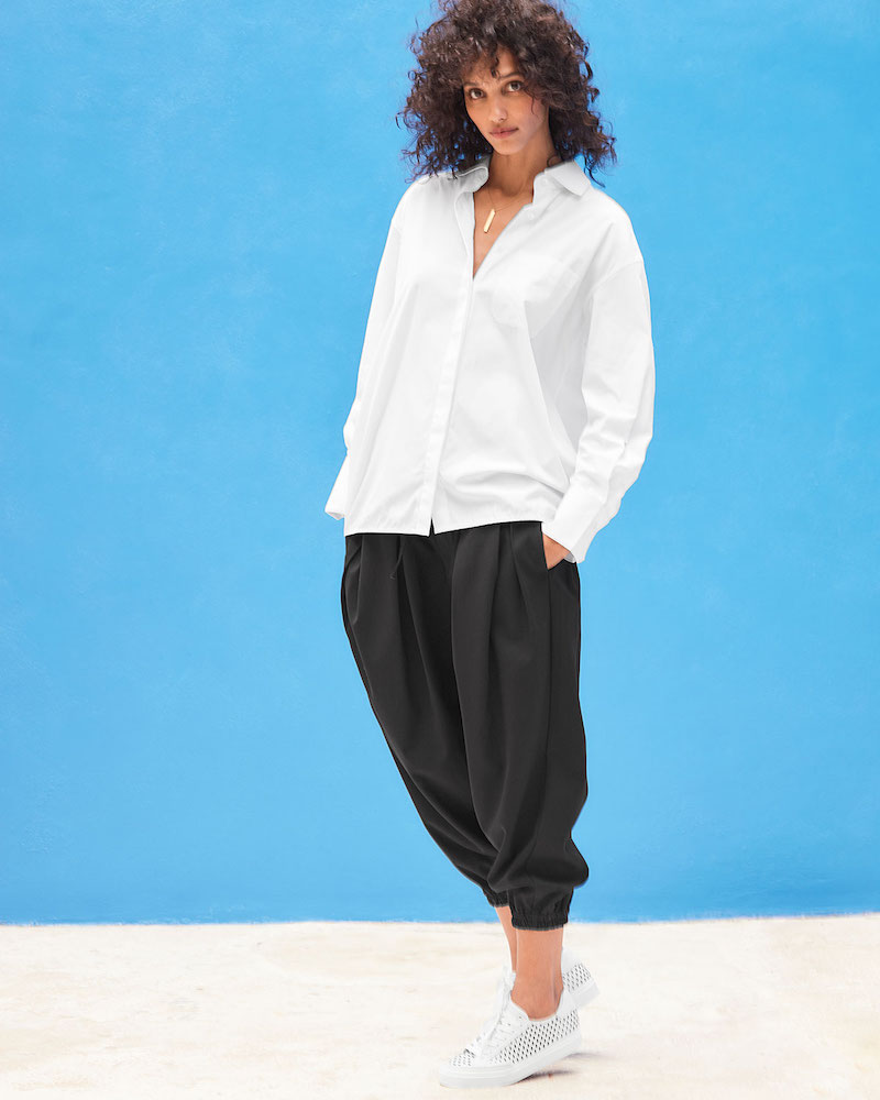 DUBGEE by Whoopi Button-Front Cotton Poplin Shirt with Side-Button Detail
