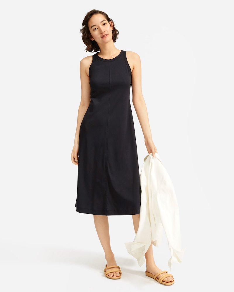 Everlane Luxe Cotton Midi Tank Dress