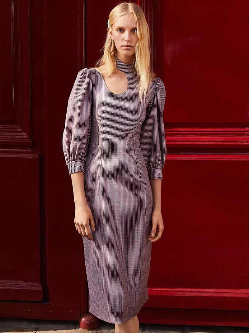 GANNI Stretchable Seersucker Dress