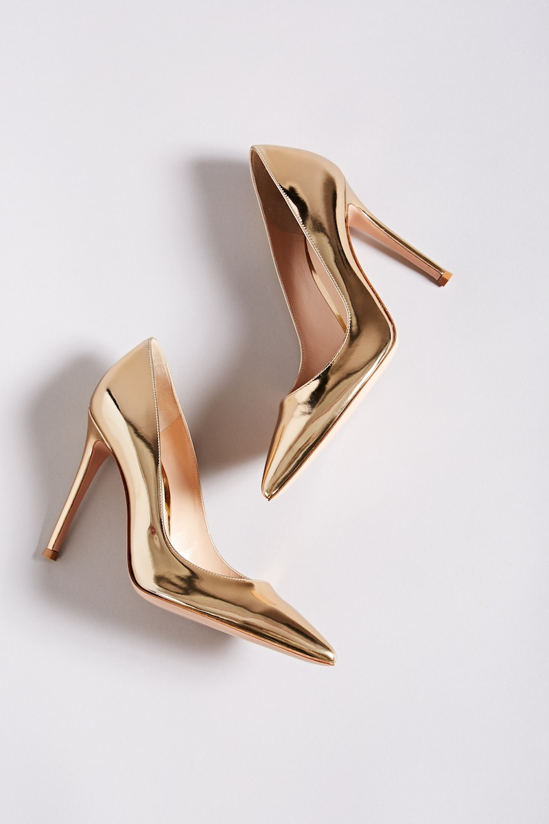 "Gianvito Rossi ""Gianvito"" Specchio Leather Pumps"