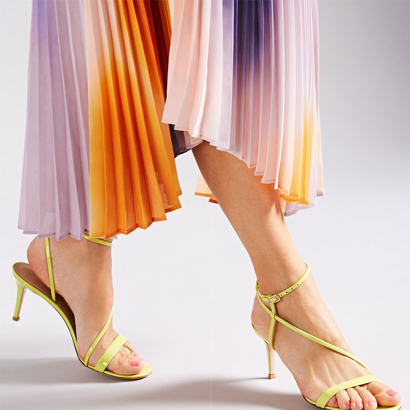Gianvito Rossi Carlyle Patent Leather Ankle-Strap Sandals