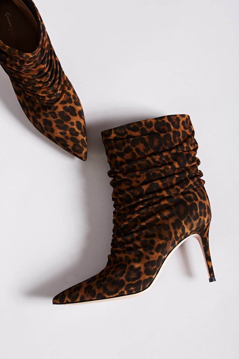 Gianvito Rossi Cecile Leopard-Print Suede Ankle Boots