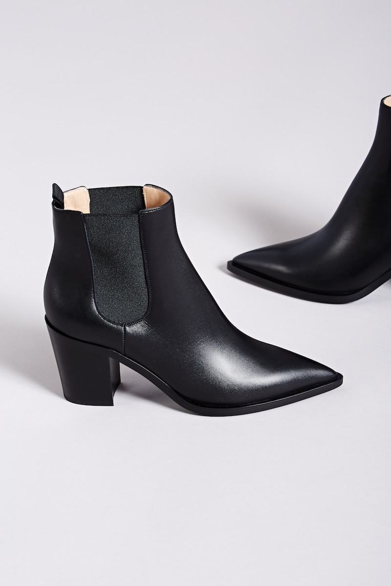 Gianvito Rossi Romney Leather Chelsea Boots