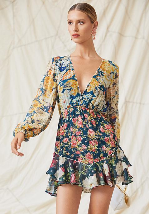 HEMANT AND NANDITA Della Mini Dress
