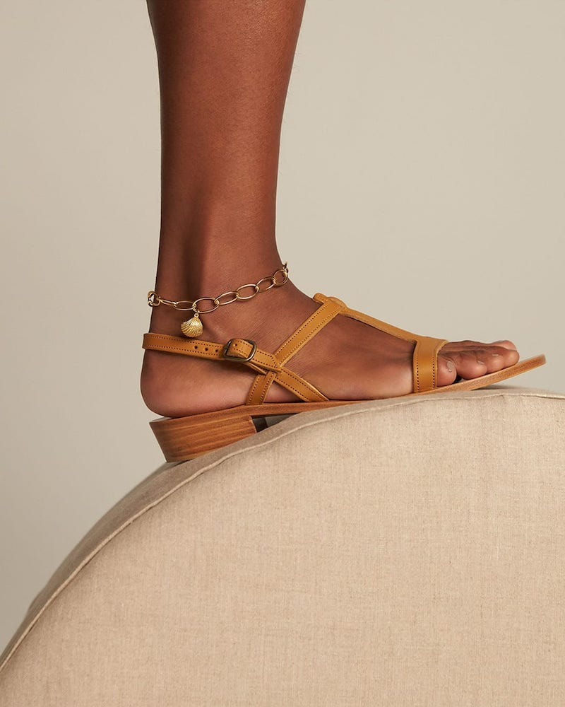 K.Jacques Elina Leather Sandals