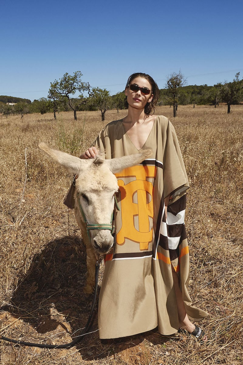 Mytheresa Exclusive Burberry Kalani Cotton and Silk Kaftan
