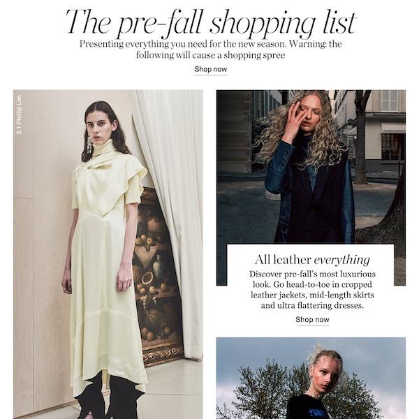 NET-A-PORTER Pre-Fall 2019 Shopping List