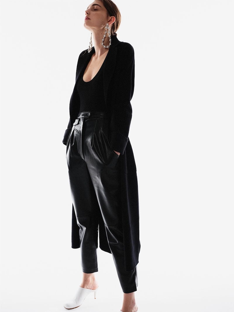 Nanushka Mitsu High Rise Faux Leather Pants