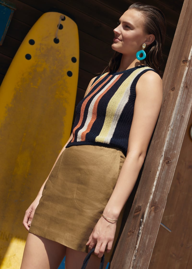& Other Stories Cotton Blend Striped Tank Top