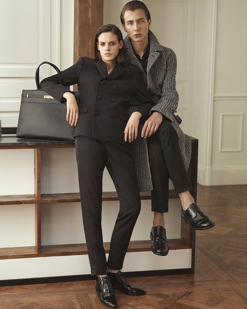 Saint Laurent Satin-Stripe Wool Straight-Leg Trousers