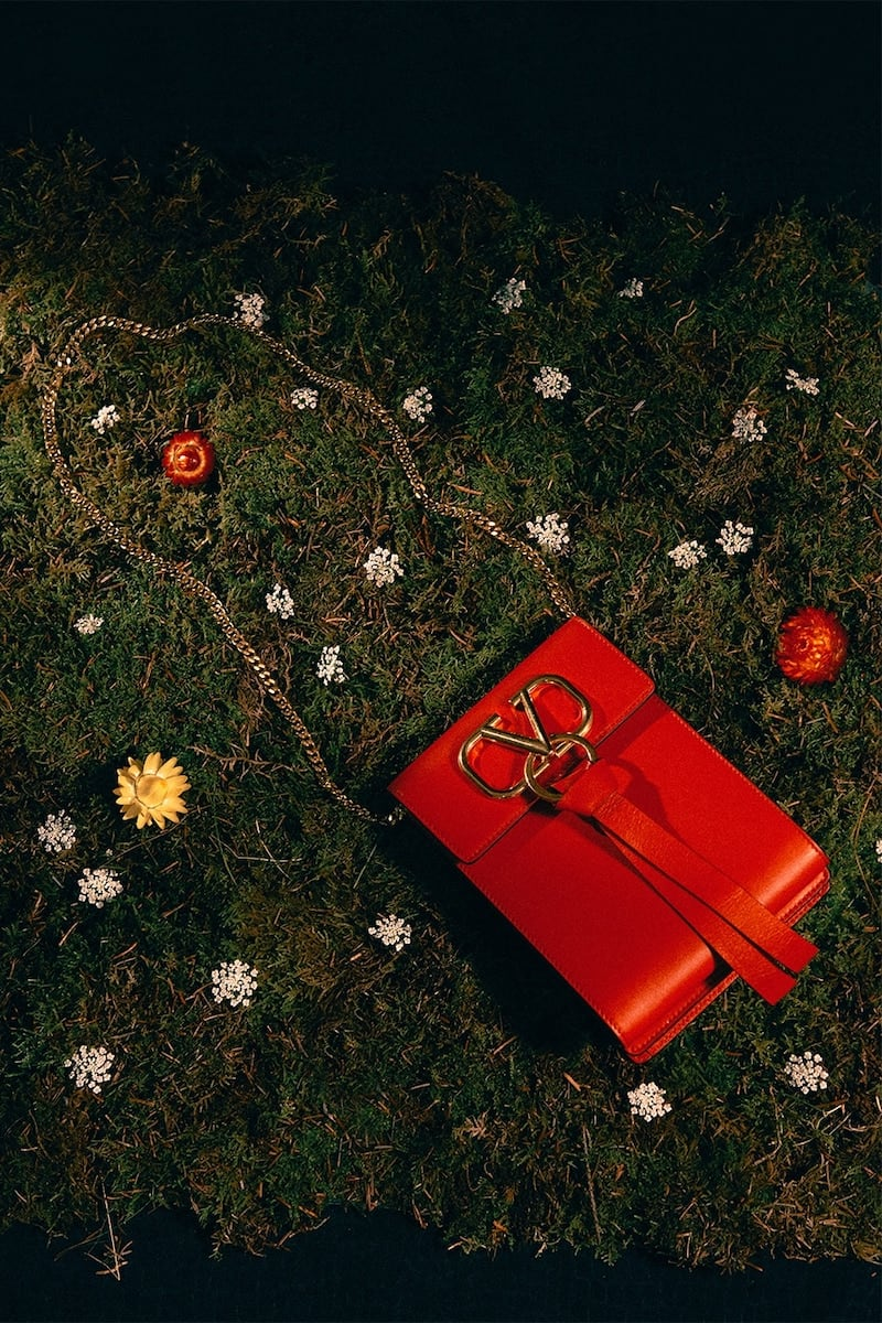 Valentino Garavani Mini Vring Ribbon Leather Backpack