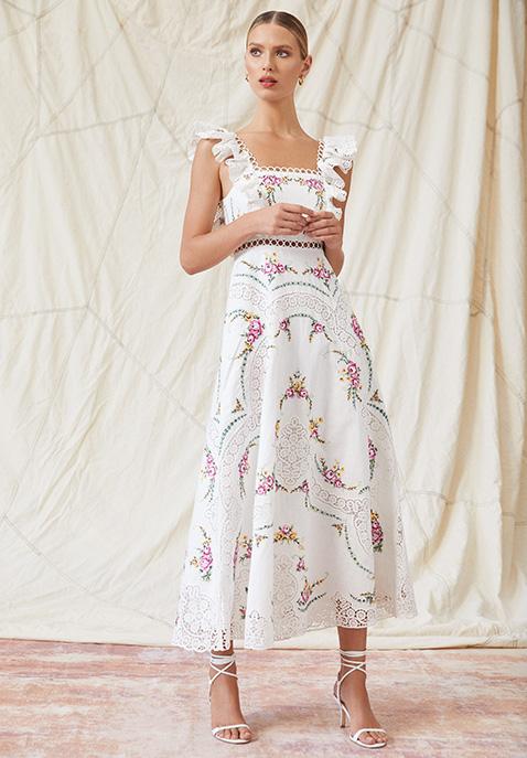 Zimmermann Allia Cross Stitch Dress