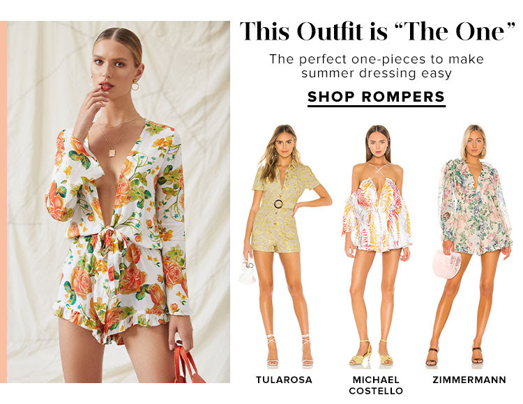 "This Outfit is ""The One"". The perfect one-pieces to make summer dressing easy. Shop Rompers."