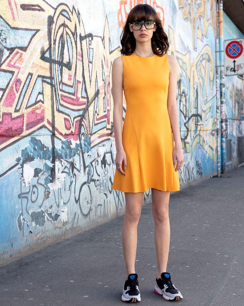 Akris punto Sleeveless Jersey A-Line Dress