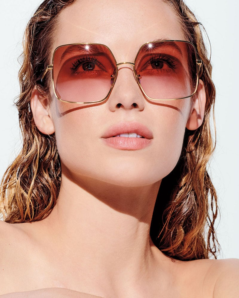 Celine Square Gradient Metal Sunglasses