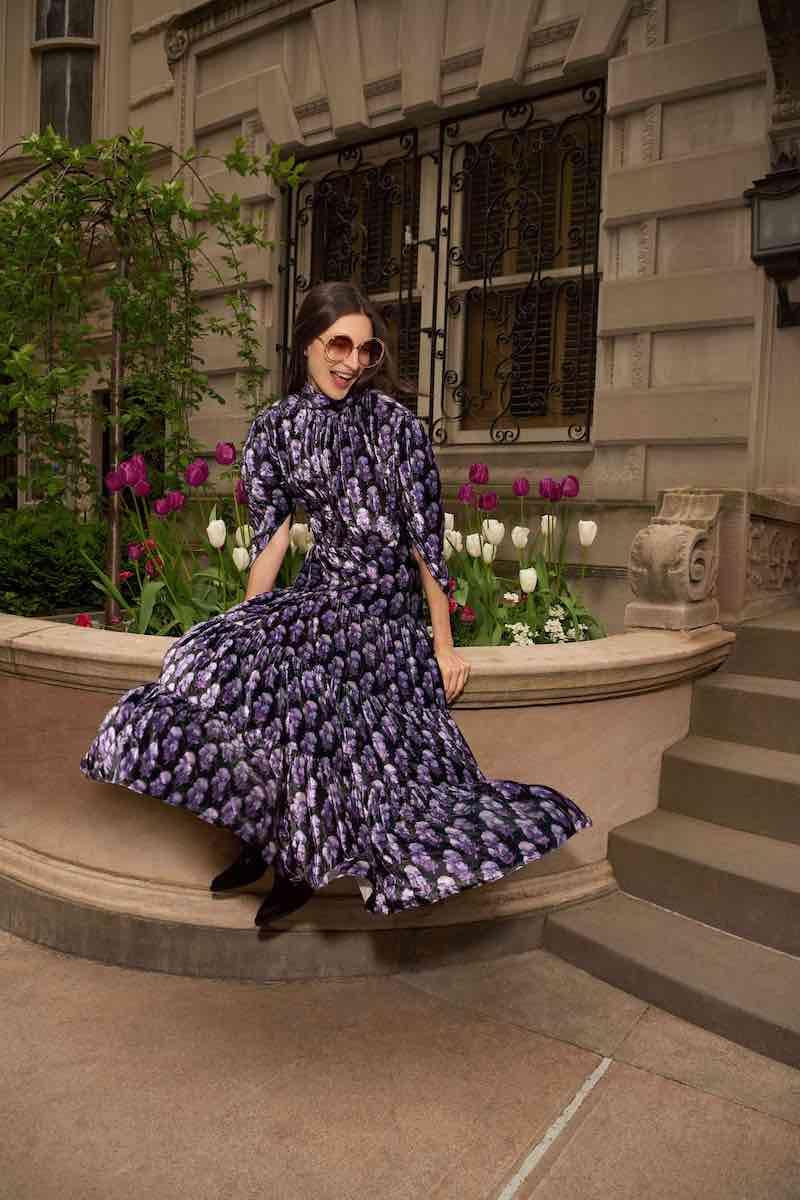 Chloé High-Neck Floral Dress