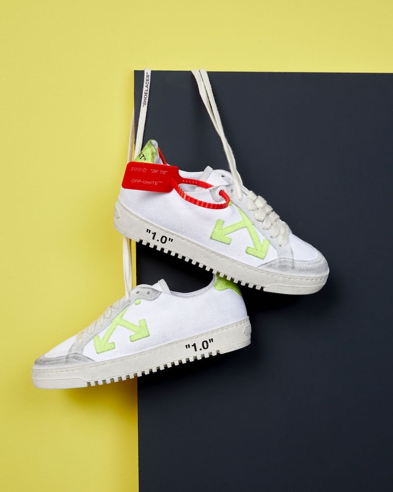 Exclusive to Mytheresa Off-White Arrow 2.0 Leather Sneakers in Fluo Yellow