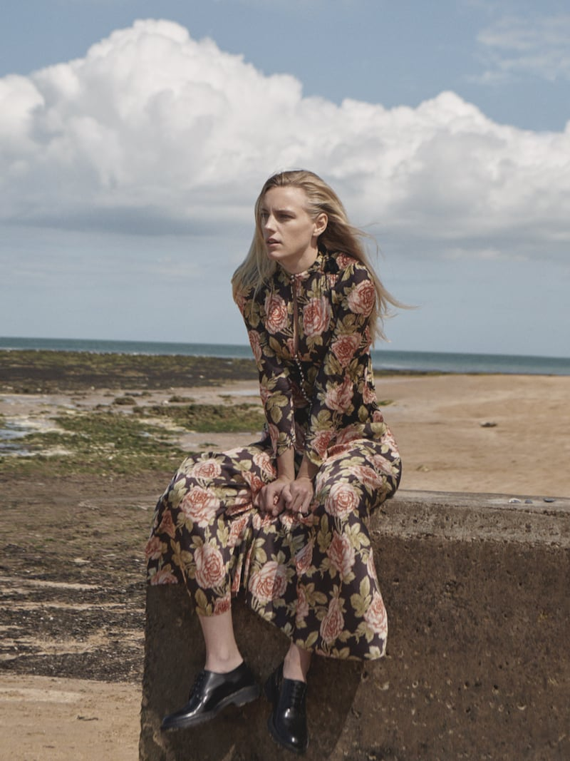 Paco Rabanne Floral-Print Velvet and Satin Maxi Dress