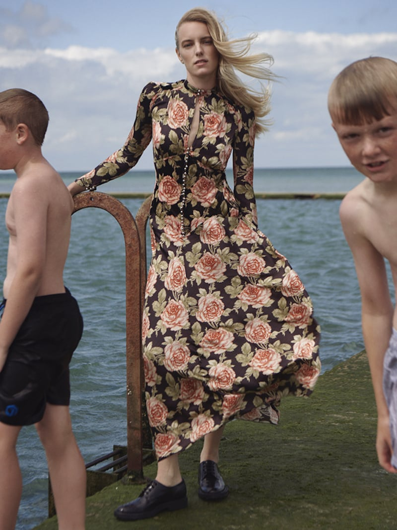 Paco Rabanne Floral-Print Velvet and Satin Maxi Dress 2