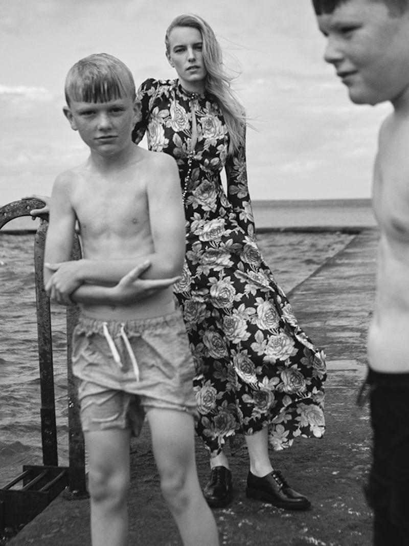 Paco Rabanne Floral-Print Velvet and Satin Maxi Dress 4