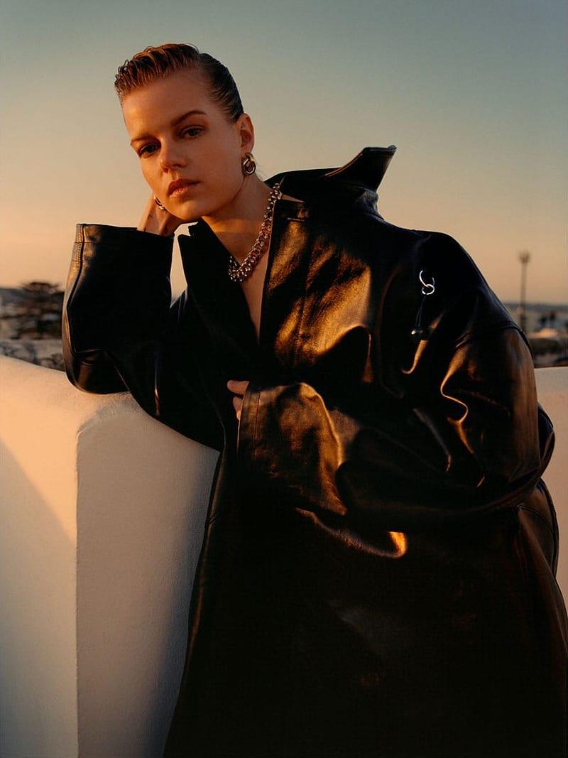 Raf Simons Oversized Leather Coat