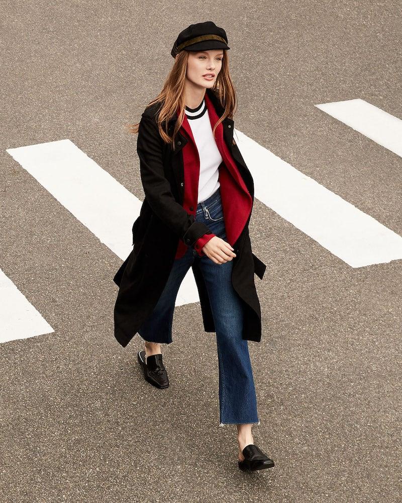 Rag & Bone Eunice Belted Wool Snap-Front Coat