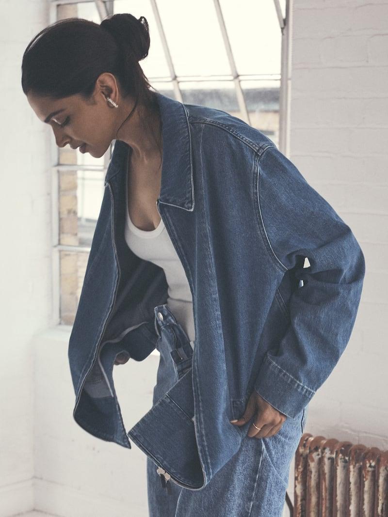 The Row Hermia Oversized Denim Jacket