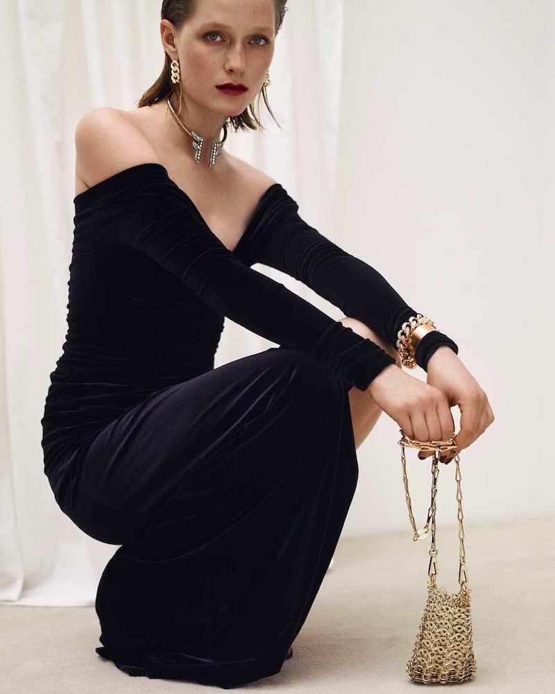 Alexandre Vauthier Wrap-Effect Velvet Gown