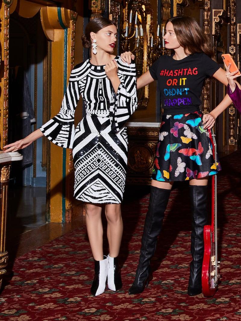 Alice + Olivia Jae Sequined Fitted Midi Dress