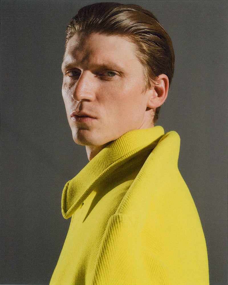 Balenciaga Pinched-Shoulder Wool Overcoat