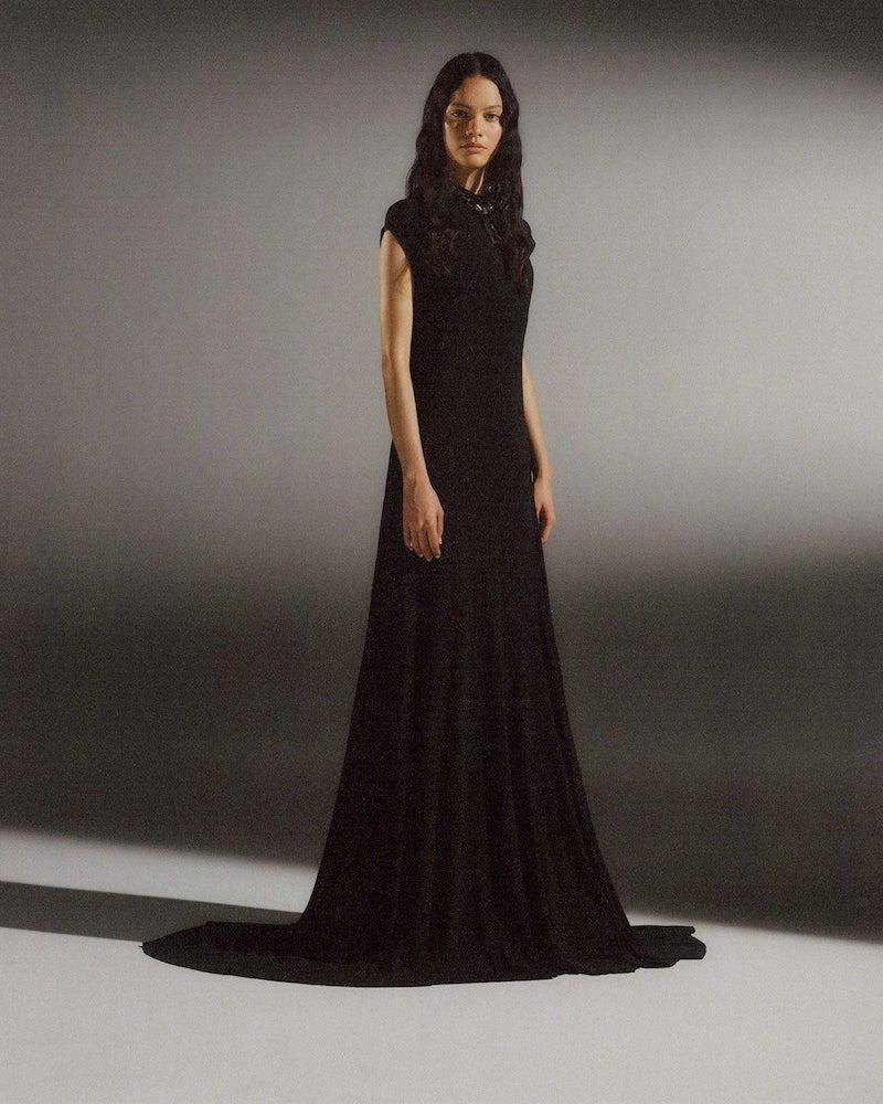Balenciaga Sleeveless Draped Stretch-Jersey Maxi Dress