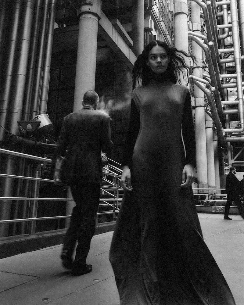 Balenciaga Sleeveless Stretch-Jersey Maxi Dress