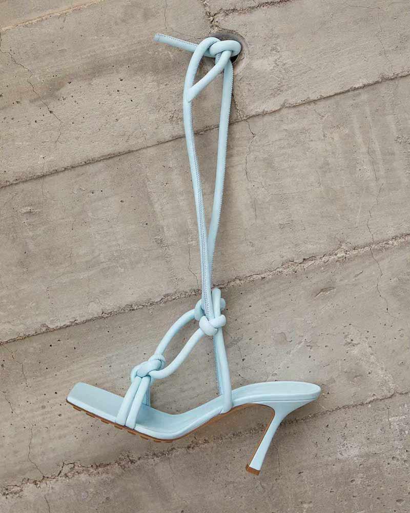 Bottega Veneta Square-Toe Leather Sandals