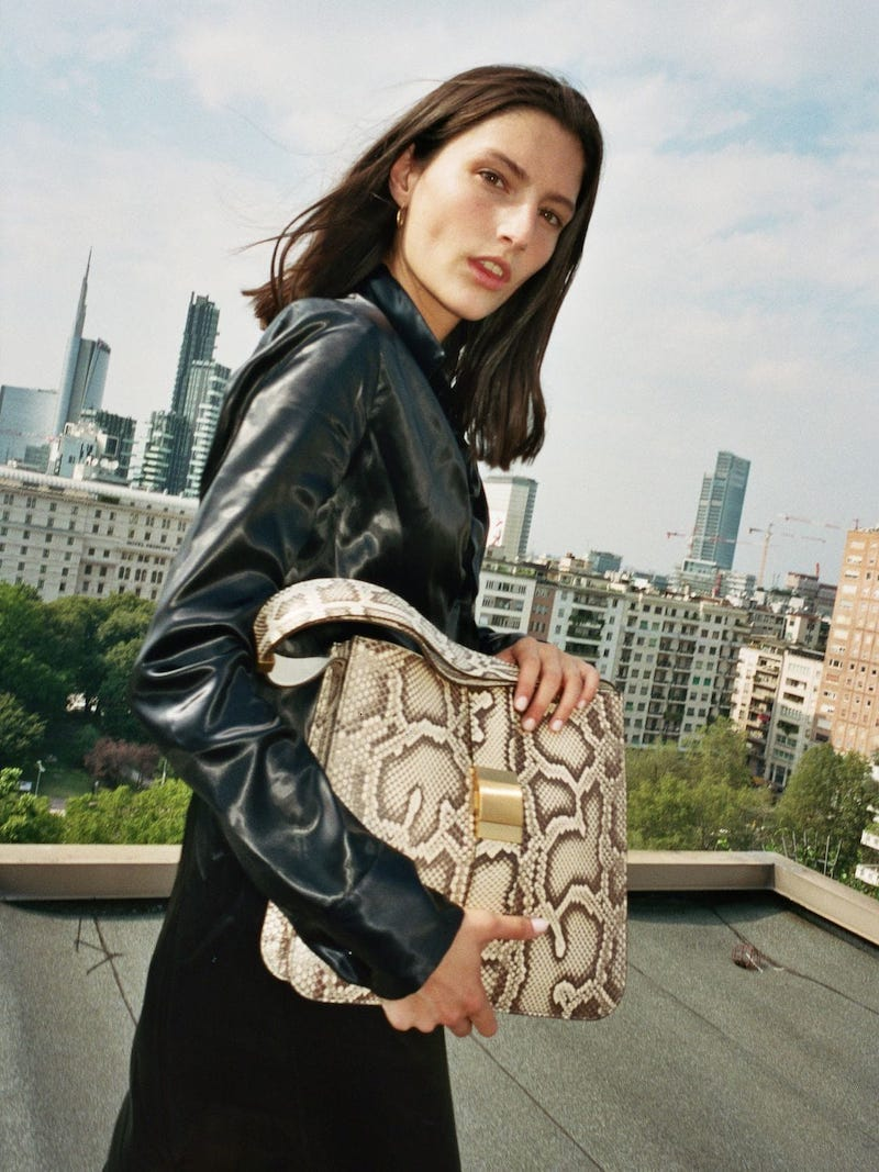 Bottega Veneta The Marie Python Leather Shoulder Bag