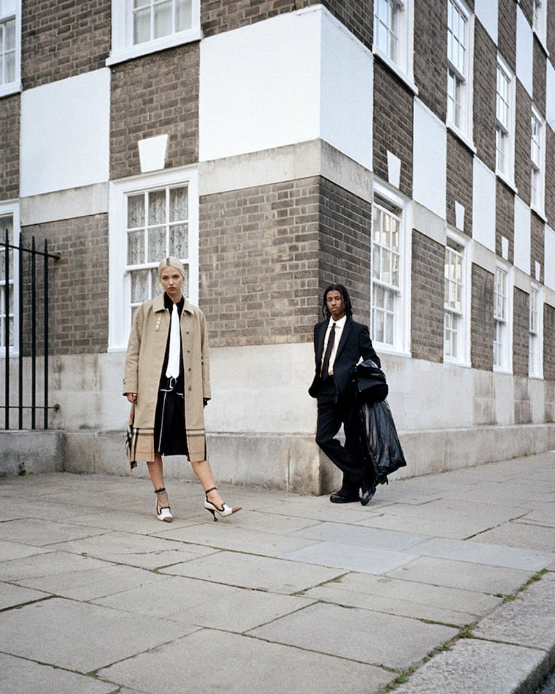 Cruising the Thames in Burberry FW19