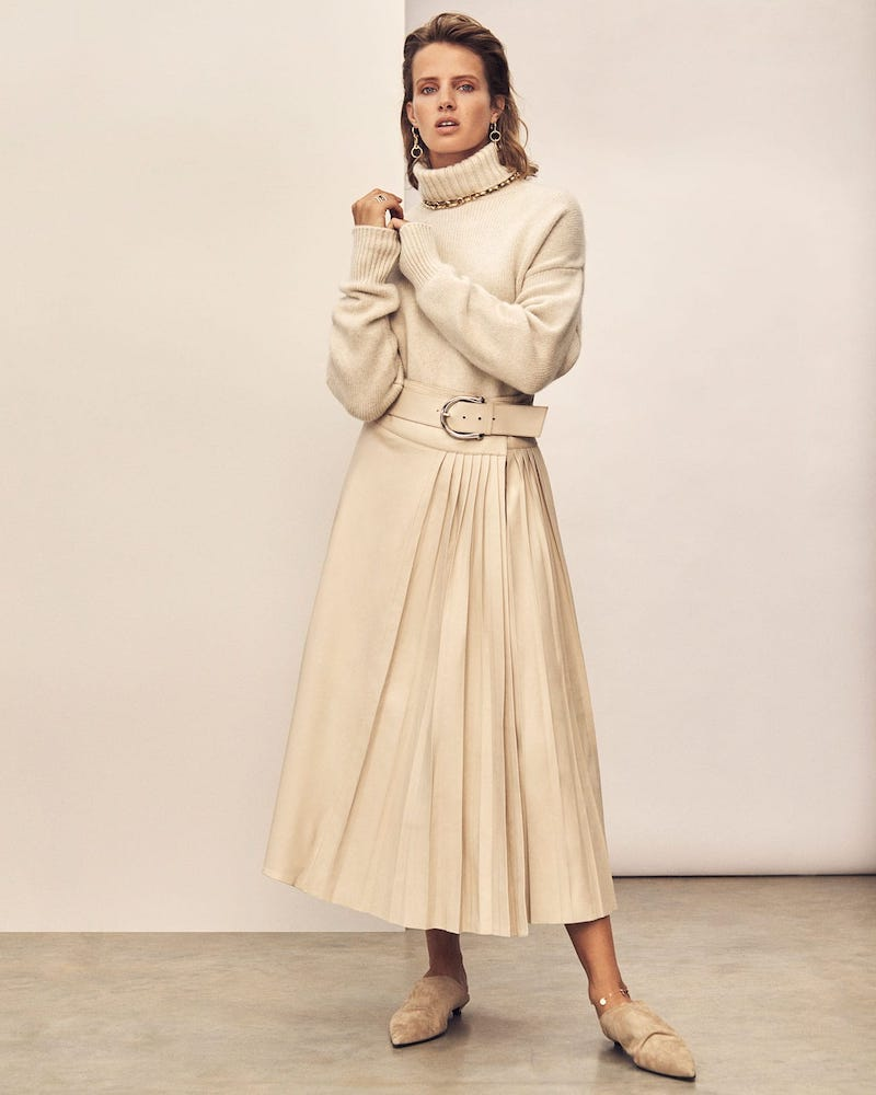 Dodo Bar Or Estelle Pleated Leather skirt