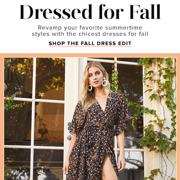 Dressed for Fall Fall 2019 Dresses 101