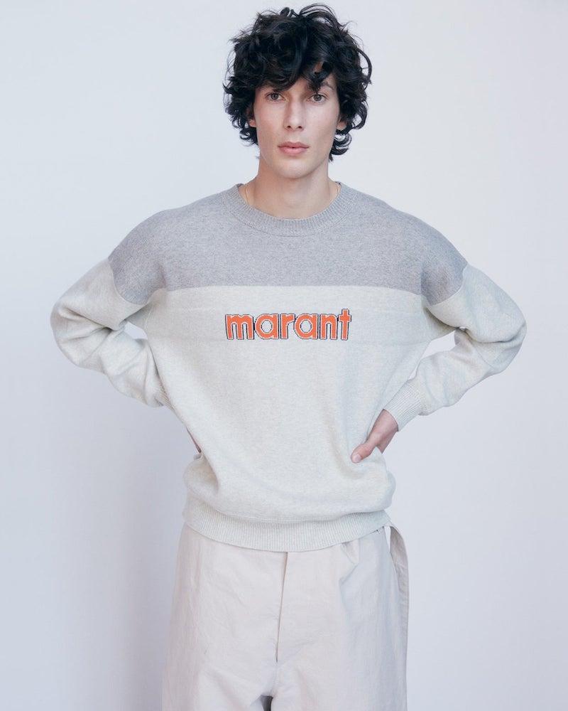 Isabel Marant Ennet Logo-Intarsia Sweater