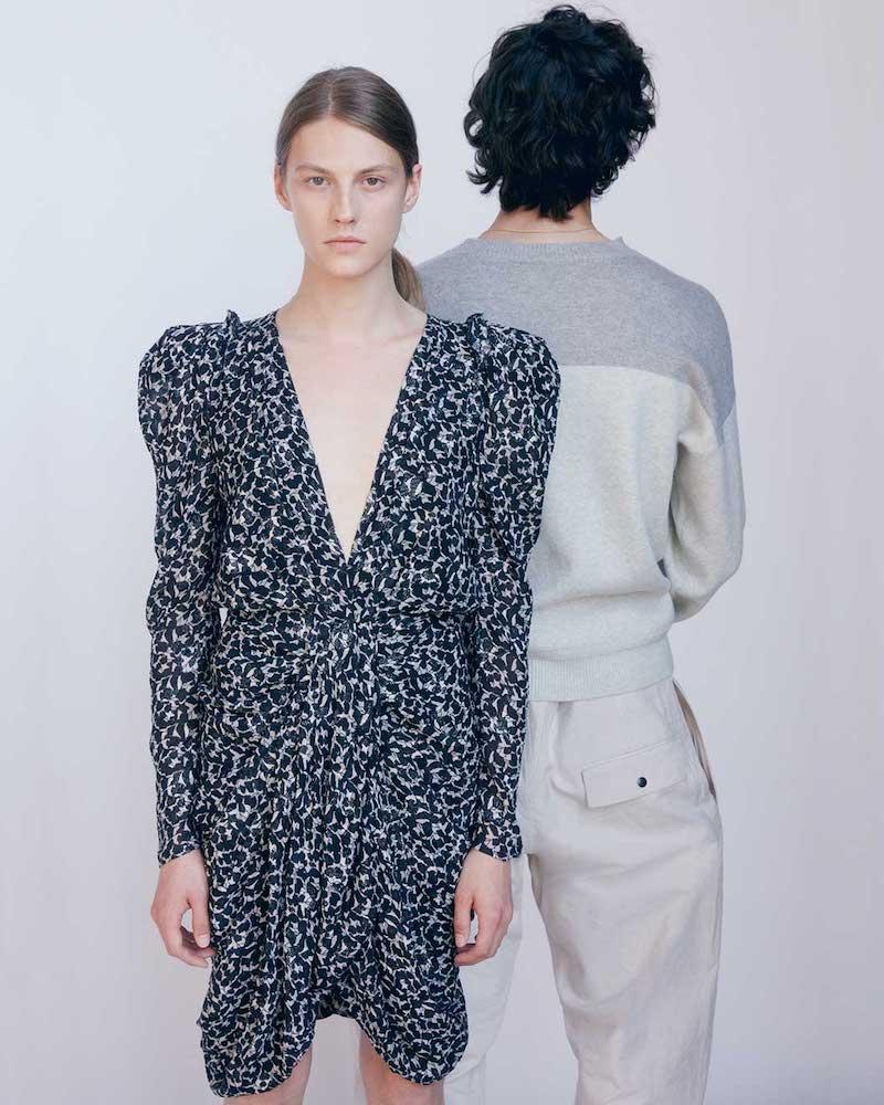 Isabel Marant Issolya Floral-Print Midi Dress