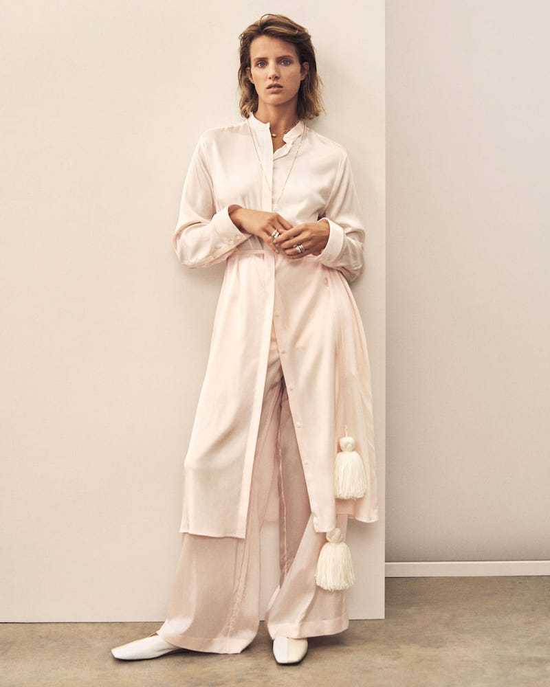 Jil Sander Belted Satin Pyjama Shirtdress
