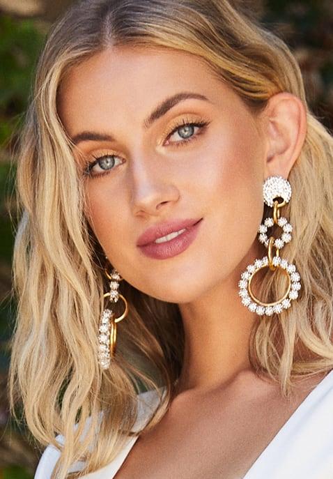 Lele Sadoughi Crystal Loop De Loop Earrings