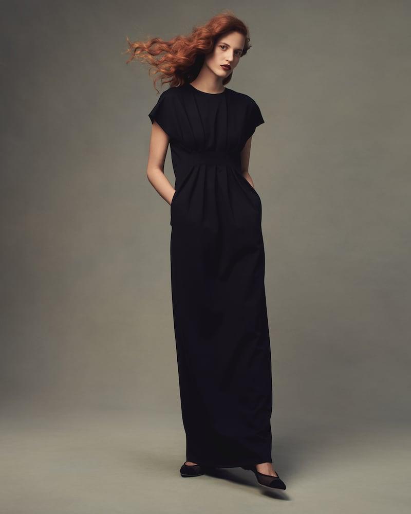 Lisa Perry Ponte Flyaway Gown