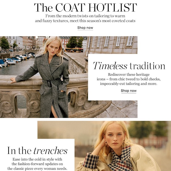 NET-A-PORTER The Coat Hotlist of Fall 2019