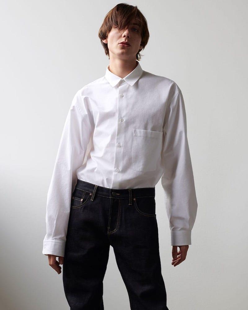 Raey Batwing-Sleeve Cotton Shirt