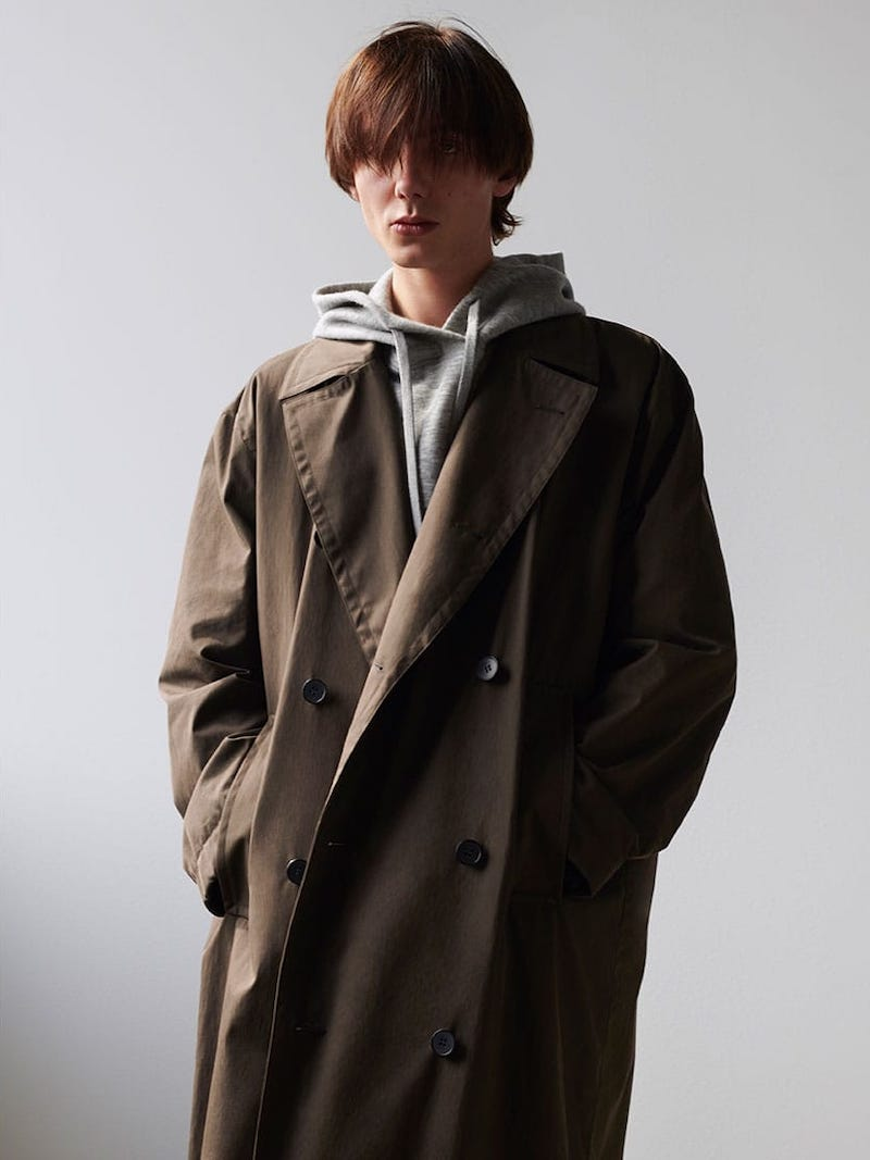 Raey Double-Breasted Cotton-Blend Coat