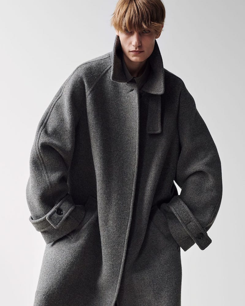 Raey Oversized Raglan-Sleeve Wool-Blend Coat
