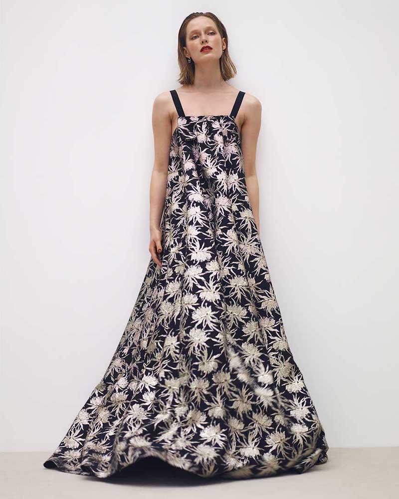 Rochas Piastra Radsmir Vanilla Flower-Brocade Gown